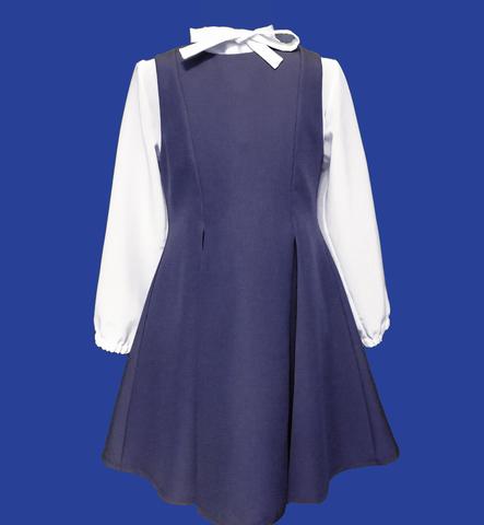 Сарафан школьный синий