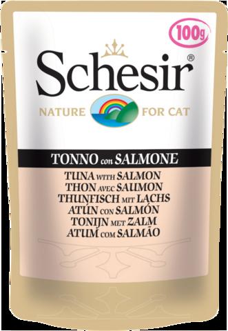 Schesir - для кошек с тунцом  и лососем 100г