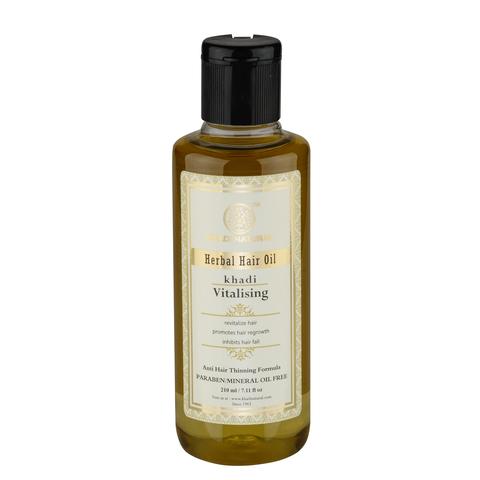 Масло для волос витализирующее - без парабенов и минерального масла Khadi Natural, 210 мл