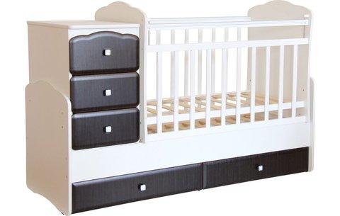 Кровать детская Фея 2150 белый-венге