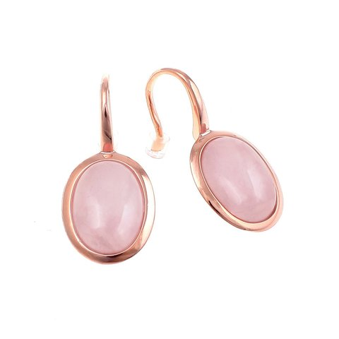 Серьги Ohrhanqer Alina pink quartz 301156 R/RG
