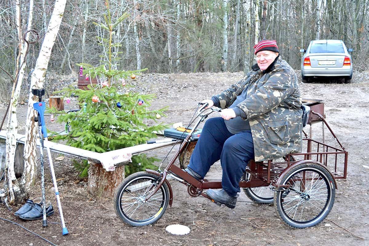 Велосипедист вагою понад 150 кг на велосипеді 'Атлет великий'