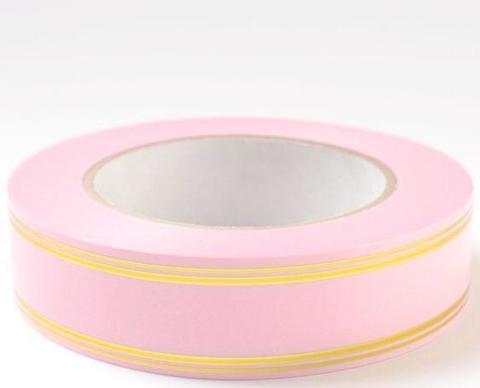 Лента золотая полоса PL (размер: 2 см х 50 ярдов) Цвет: светло-розовый