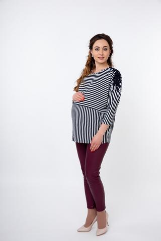 Блузка для беременных 09841 синий