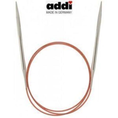 Спицы Addi круговые с удлиненным кончиком для тонкой пряжи 60 см, 8 мм