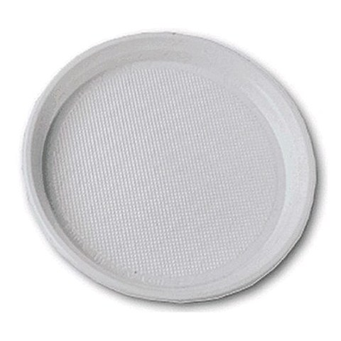 Одноразовая пластиковая тарелка бессекц. ПС (8г) D=220 мм