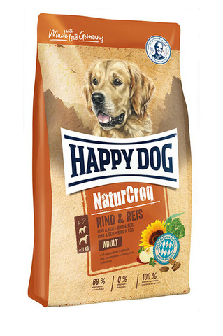 Happy Dog NaturCroq Adult Rind&Reis 15 кг