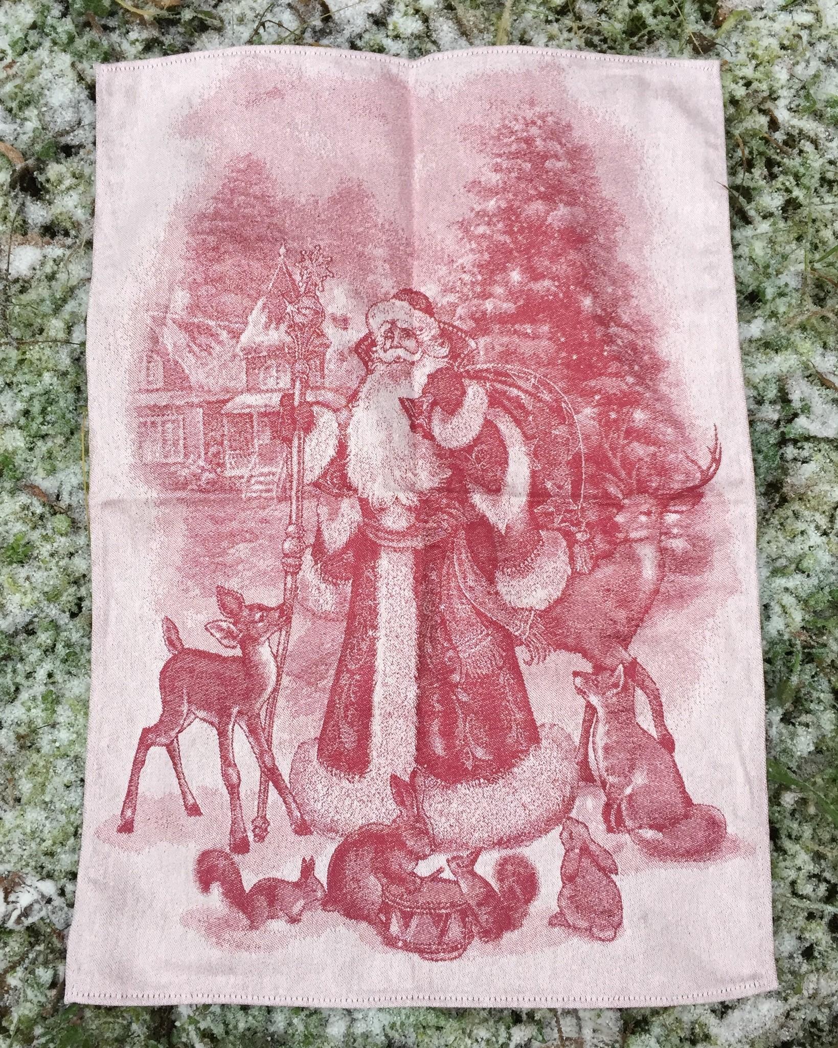 Жаккардовое полотенце с новогодним рисунком 50 х 70