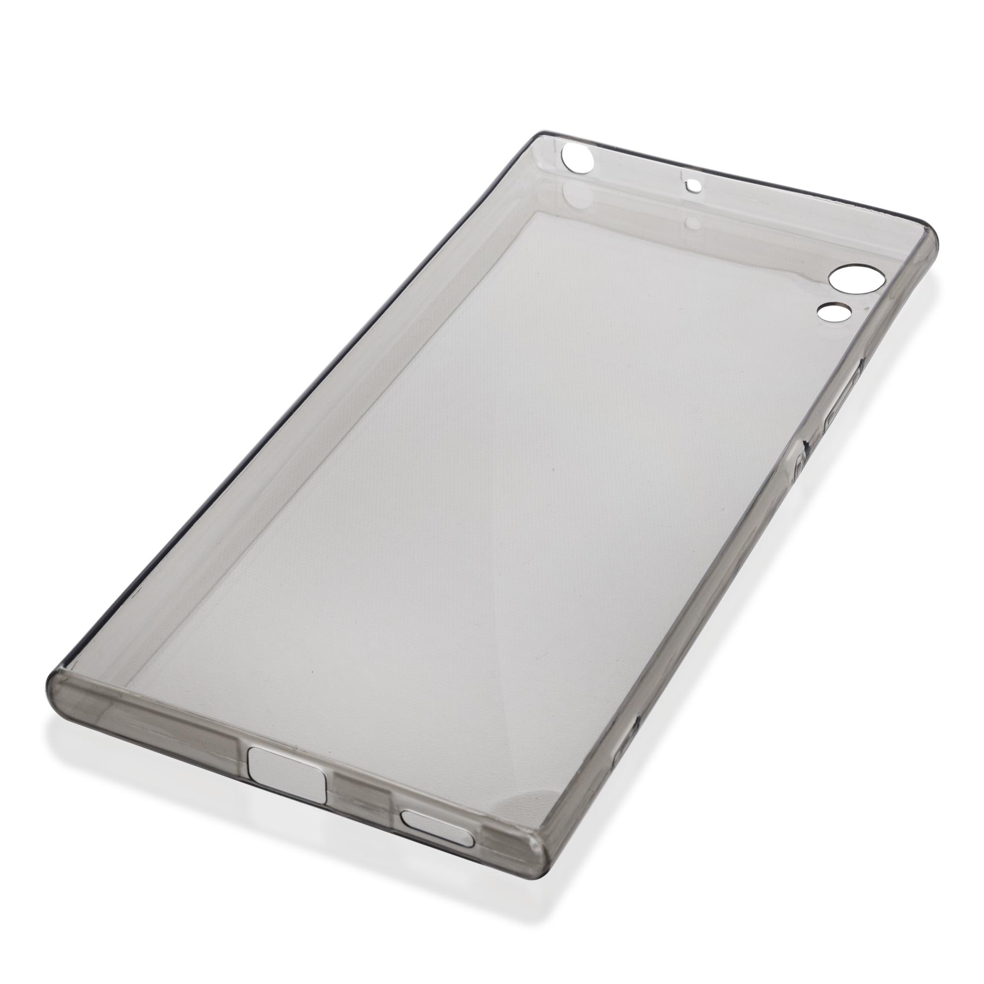Силиконовая накладка Brosco для сматфона Xperia XA1 Ultra, цвет чёрный