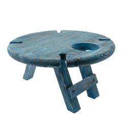 Складной столик для вина из дерева, темно-синий, фото 2