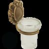 Стакан настенный Migliore Cleopatra ML.CLE-60.702 стекло прозрачное с матовым декором