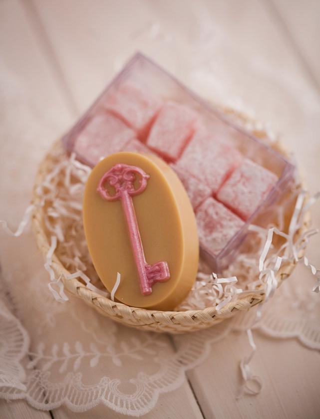 Мыло, изготовленное по форме Дверной ключ