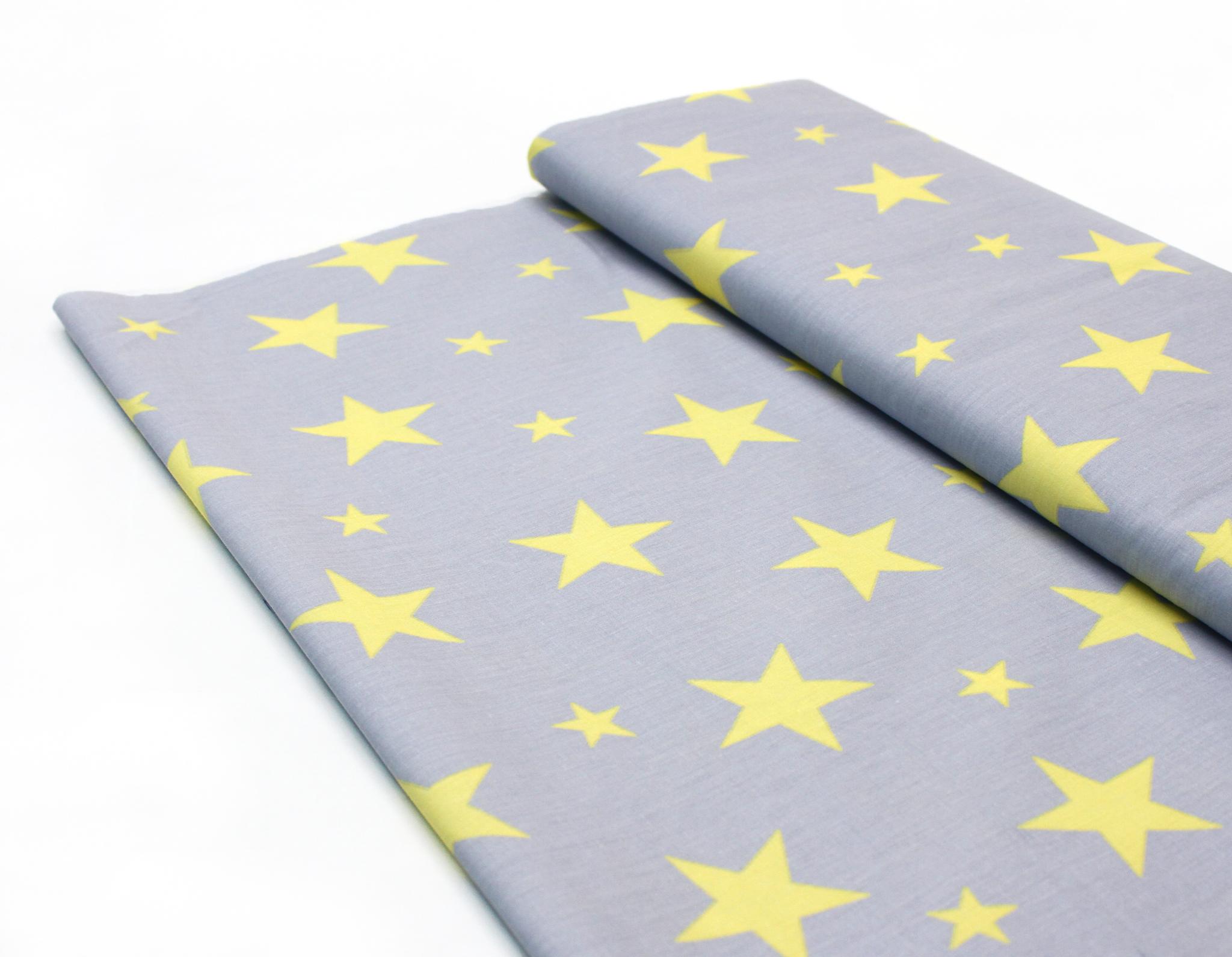 Звезды желтые на сером 2