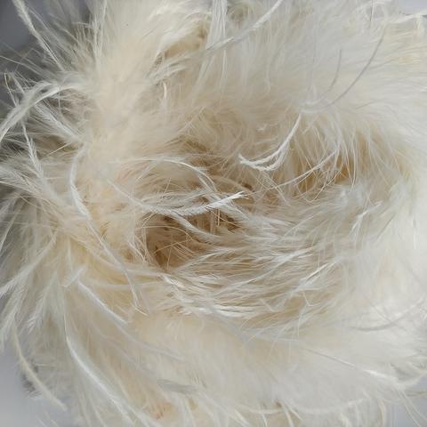 Боа  из перьев страуса и пуха 25 гр. айвори