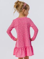 Платье-туника для девочки розовое с длинными рукавами купить
