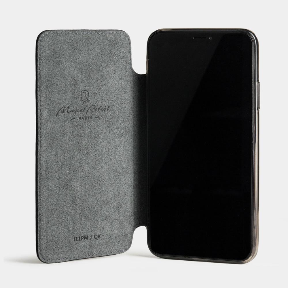 Чехол Benoit для iPhone 11 Pro Max из натуральной кожи теленка, цвета черный мат
