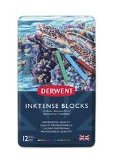 Набор из 12 акварельных блоков Derwent Inktense