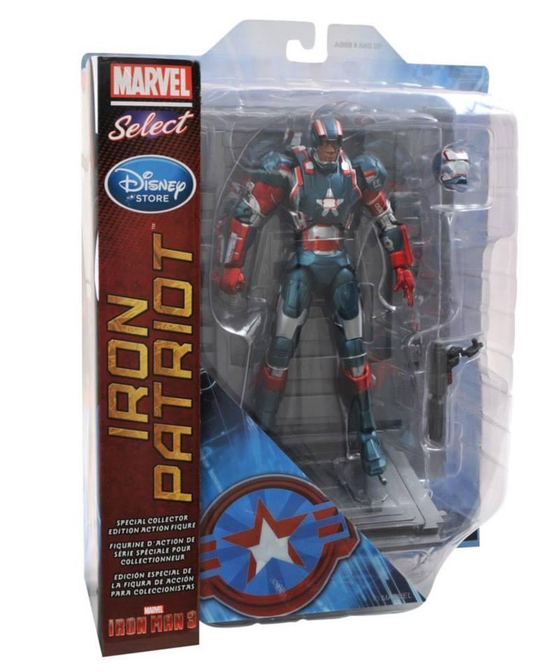 Марвел Селект фигурка Железный Патриот — Marvel Select Iron Man 3 Iron Patriot Exclusive