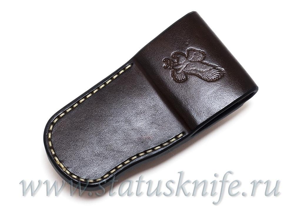 Чехол кожаный коричневый Brown 2 Buck 110 - фотография