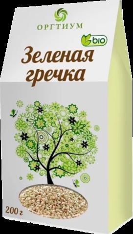 Гречневая крупа Оргтиум зелёная 200 г