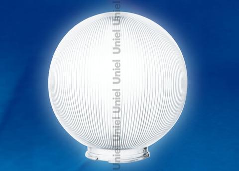 UFP-P250В CLEAR Рассеиватель призматический (с насечками) в форме шара для садово-парковых светильников. Диаметр - 250мм. Тип соединения с крепежным элементом - посадочный. Материал - САН-пластик. Цвет - прозрачный. Упаковка - 4 шт. в групповой картонной коробке.