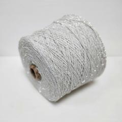 Filati Power, Luxeline, Хлопок 100% серый с серебряным люрексом, 200 м в 100 г
