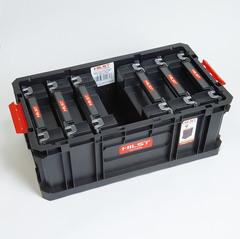 Модульный ящик для инструментов с шестью дополнительными органайзерами HILST Indoor