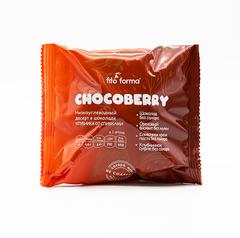 Низкоуглеводный десерт в шоколаде Chocoberry Клубника со сливками 50 г