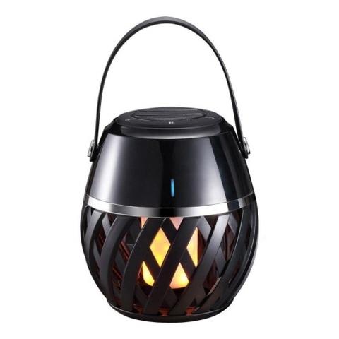 ULD-R201 LED/FLAME BLACK Светодиодный светильник с bluetooth колонкой 75db. Эффект пламени. Встроенный аккумулятор 1800mAh. Черный. ТМ Uniel