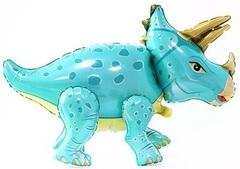 К Ходячая Фигура, Динозавр Трицератопс, Бирюзовый, 36''/91 см, 1 шт.
