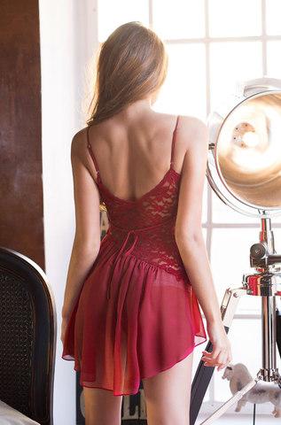 Сорочка женская  MIA-MIA Venera Венера 17301 бордовый