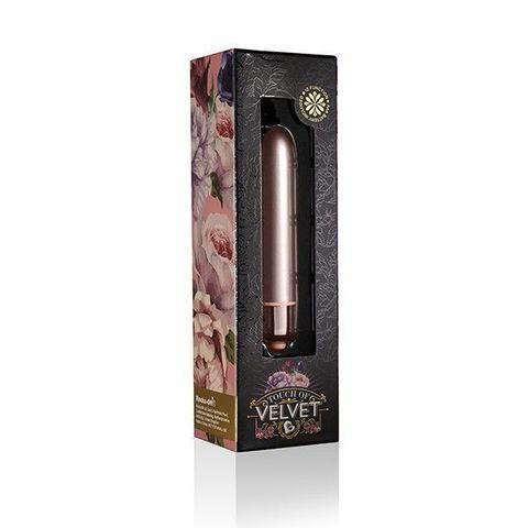 Розовая вибропуля Touch of Velvet - 9 см.