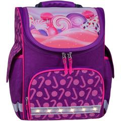 Рюкзак школьный каркасный с фонариками Bagland Успех 12 л. фиолетовый 409 (00551703)