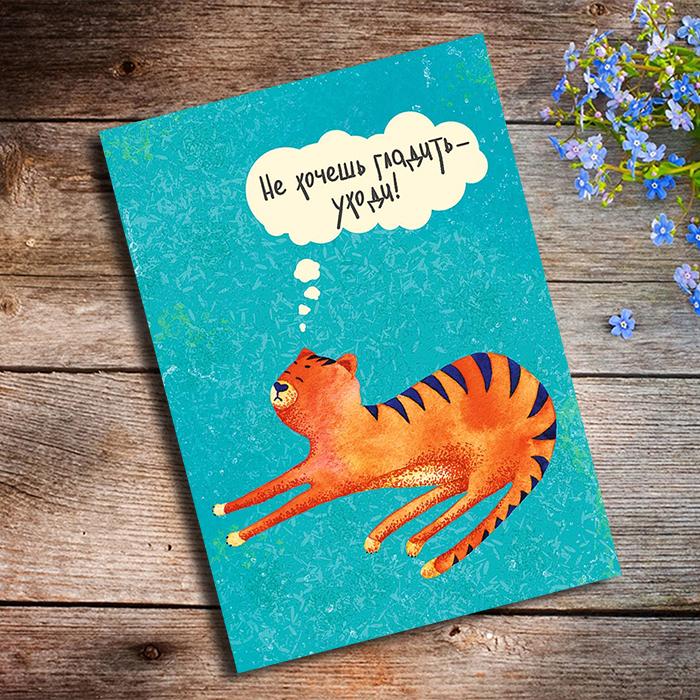 НЕ ХОЧЕШЬ ГЛАДИТЬ УХОДИ Купить оригинальную открытку в Перми