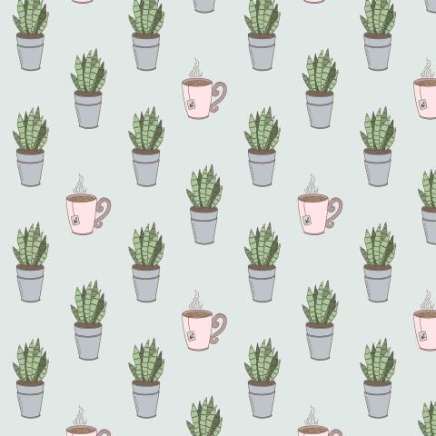 Паттерн для плант-мамы с комнатными растениями