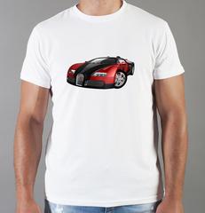 Футболка с принтом Bugatti (Бугатти) белая 0012