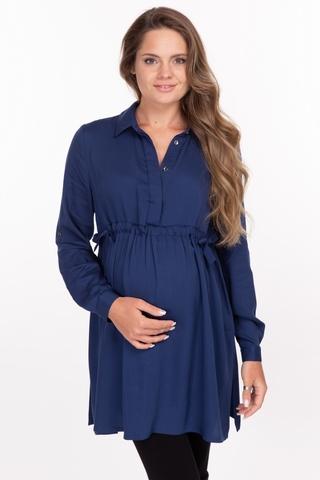 Рубашка для беременных 10921 синий