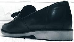 Летние лоферы туфли мужские классика Luciano Bellini 91178-E-212 Black.