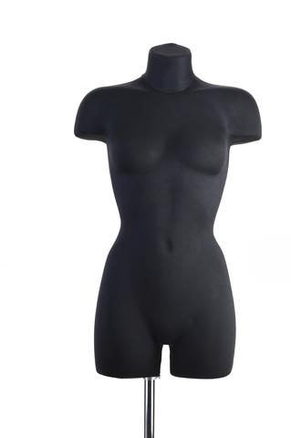 Демонстрационный женский манекен с выраженным рельефом 42-44 размер (черный)