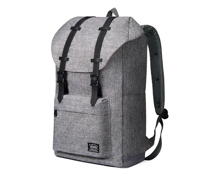 BAG404-3 Стильный мужской городской рюкзак из ткани серого цвета фото 12