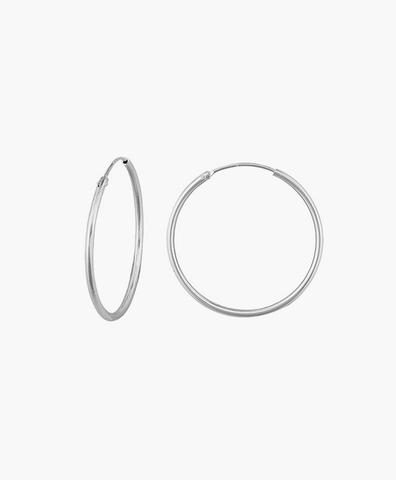 Серьги-кольца Hoops Endless silver 24 мм