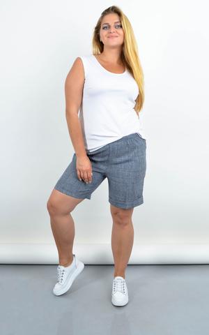 Юрмала. Жіночі шорти великих розмірів. Сірий меланж.