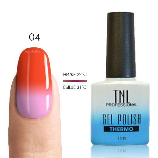 Термо TNL, Термо гель-лак № 04 - коралловый/розовый, 10 мл 04.jpg
