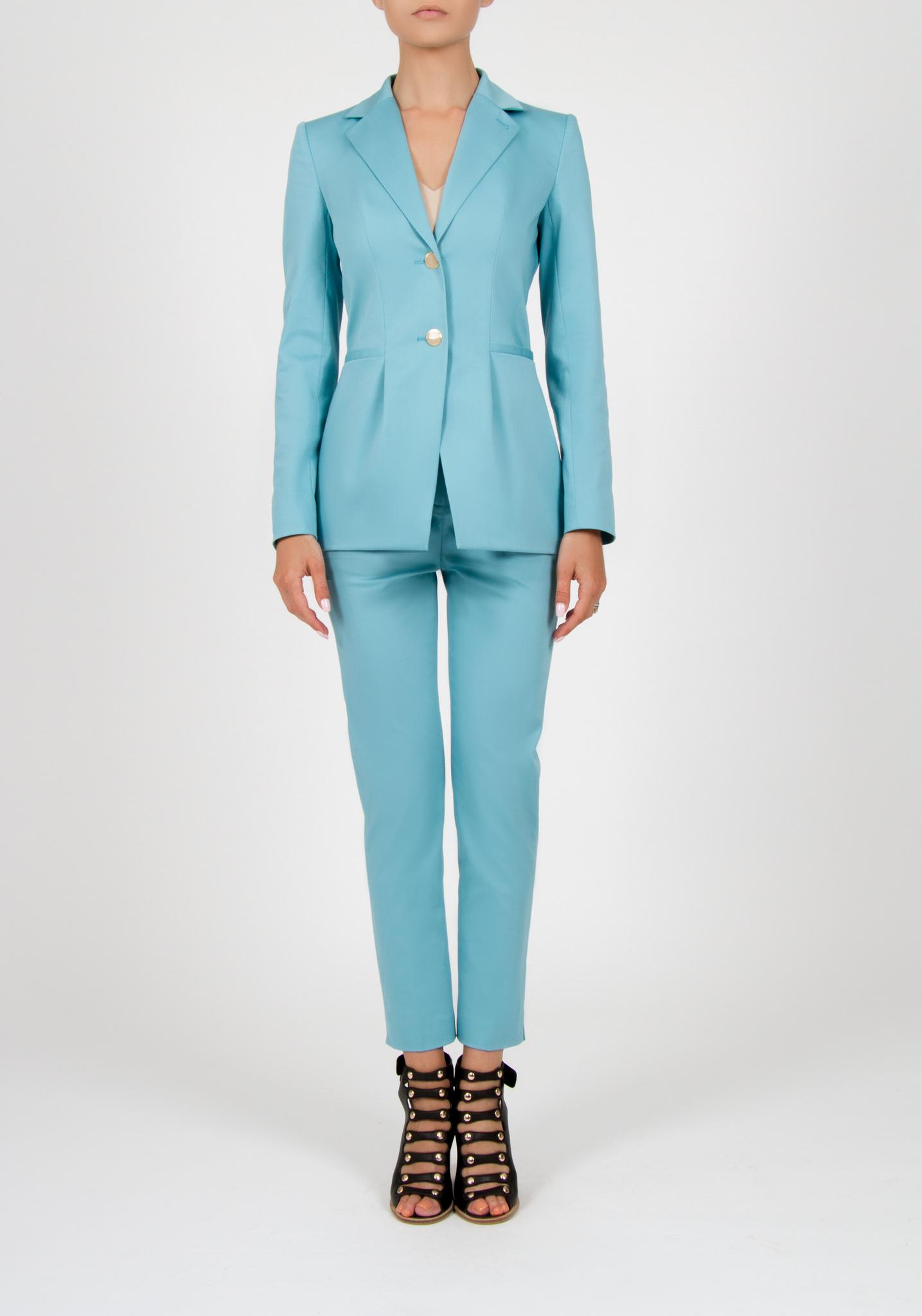 Пиджак небесно-голубого цвета