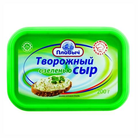 Сырный продукт Творожный С зеленью 200 г Плавыч РОССИЯ