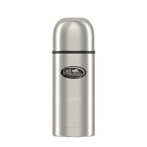 Термос Biostal Охота (0,5 литра), 2 чашки, с ситечком, стальной