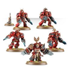 Blood Angels Terminator Assault Squad. Все миниатюры