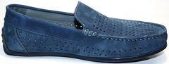 Стильные мокасины мужские IKOC 1352-2 Blue.
