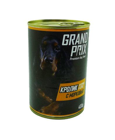 Grand Prix консервы для собак кусочки в соусе кролик с морковью 400г