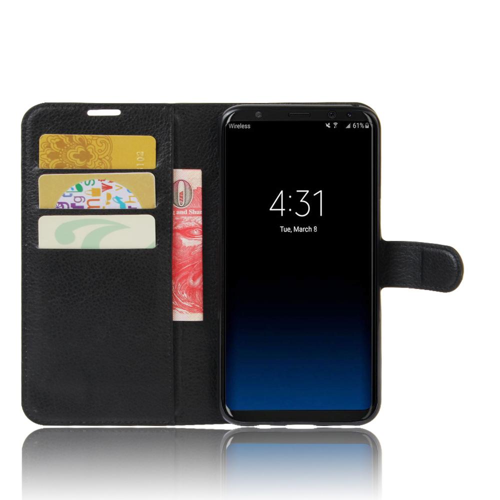 Чехол книжка на Samsung Galaxy S8, с отсеком для карт и подставкой от Caseport